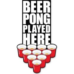 Beer Pong Played Here Funky Chunky Magnet