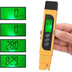 PROSTER 3 in 1 Digital Water Quality Tester TDS EC Purity Meter TEMP PPM Test Filter Pen 4 Display Modes TDS (Total Dissolved Solids), EC.