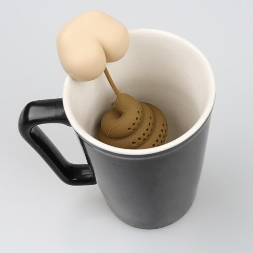 Poop Shaped Funny Tea Infuser.