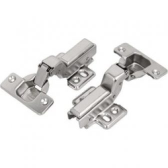 110mm Long Stainless Steel Concealed Self Close Cabinet Inset Door Hinges 2pcs