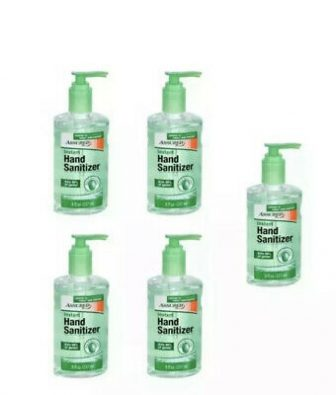 5 Pk Assured Instant Hand Sanitizer 8 oz ea Bottle Aloe Vera...