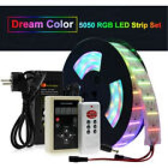5m 6803 1903 IC Dream Color LED Strip Light Flowing Water RF...
