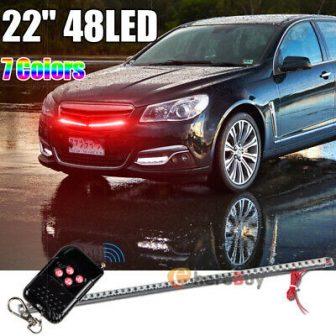 7 Color 48 Flash Car Strobe Knight Rider Light Strip Kit +Remote...