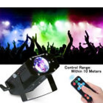 7 Colors Water Ripples Disco Microphone Remote Control Stage Light DJ Led...