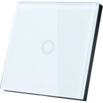 AC 110-240V 1 Way 1 Gang Panel Wall Light Touch Switch White...