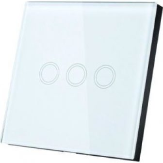 AC 110-240V 1 Way 3 Gang Panel Wall Light Touch Switch White...