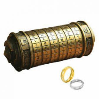 Mini Da Vinci Code Cryptex Lock Creative Romantic Valentine Birthday Gift Bronze