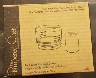 Pampered Chef Ice Cream Sandwich Maker 2485
