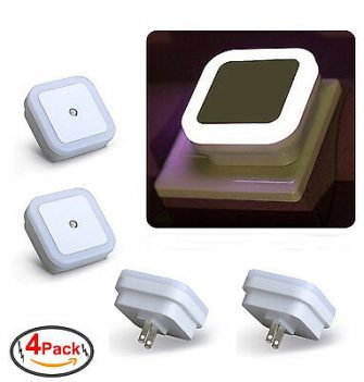 Plug in LED Night Light Wall Lamp w/ Dusk to Dawn Sensor...