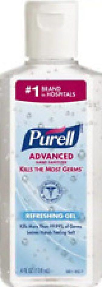 Purell Advanced Instant Hand Sanitizer Flip Cap Bottles, 4 Oz. (1 Bottle),...