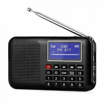 Radio Portable FM Pocket Speaker MP3 USB Music Player, Digital