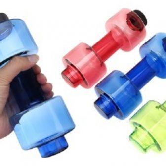 Unique Water Bottle Dumbbell BPA-free Plastic
