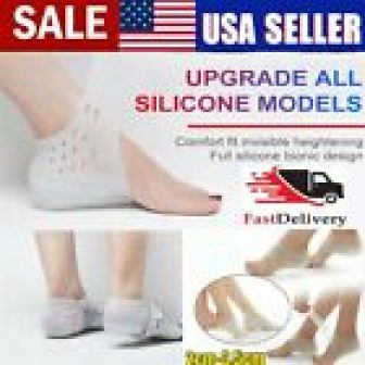 USA Invisible Height Lift Heel Pad Sock Liners Increase Insole Pain Relieve...