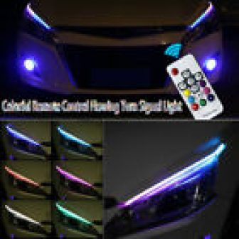 Water Remote Control Colorful Turn Signal Light LED Strip Car Soft Tube...