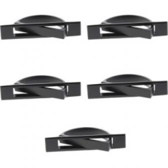Zinc Alloy Invisible Concealed Cabinet Drawer Door Handle Pulls Black